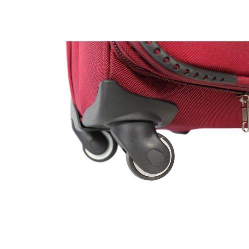 Набор чемоданов Fly 6802 на 4-х колесах 3 штуки бордовый