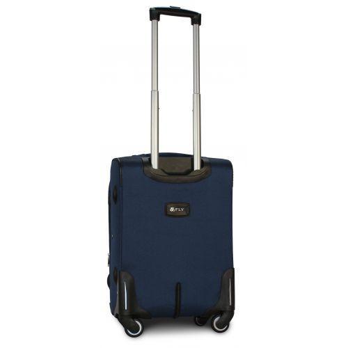 Тканевый чемодан Fly 8279-4S маленький на 4-х колесах синий