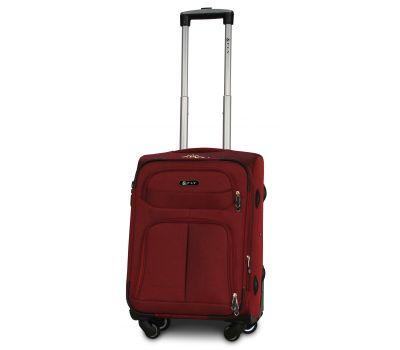 Тканевый чемодан Fly 8279-4S маленький на 4-х колесах бордовый