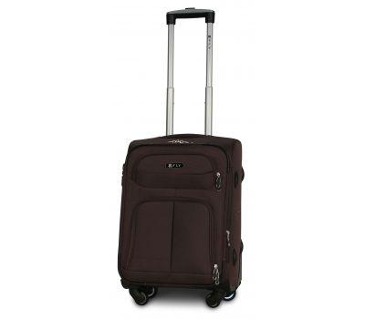 Тканевый чемодан Fly 8279-4S маленький на 4-х колесах коричневый