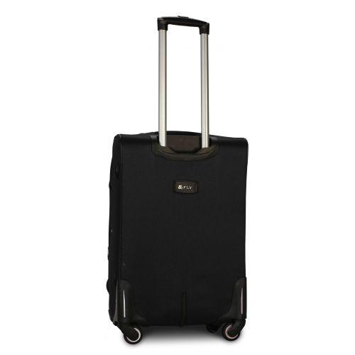 Тканевый чемодан Fly 8279-4M средний на 4-х колесах черный