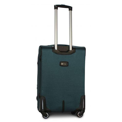 Тканевый чемодан Fly 8279-4M средний на 4-х колесах зеленый