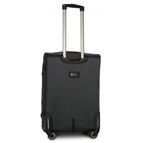 Тканевый чемодан Fly 8279-4M средний на 4-х колесах серый