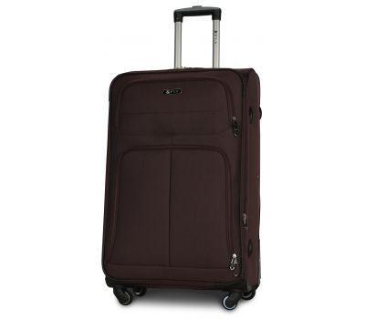 Тканевый чемодан Fly 8279-4L большой на 4-х колесах коричневый
