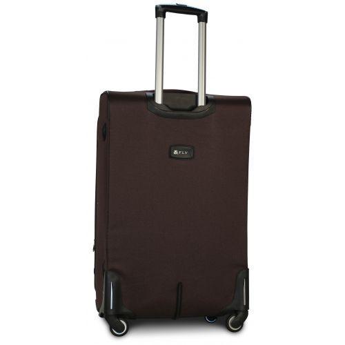 Набор тканевых чемоданов Fly 8279 на 4-х колесах 3 штуки коричневый
