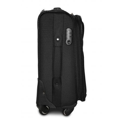 Тканевый чемодан Fly 8279-4L большой на 4-х колесах черный