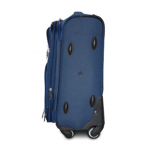Тканевый чемодан Fly 8279-4M средний на 4-х колесах синий