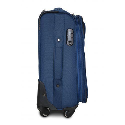 Тканевый чемодан Fly 8279-4L большой на 4-х колесах синий