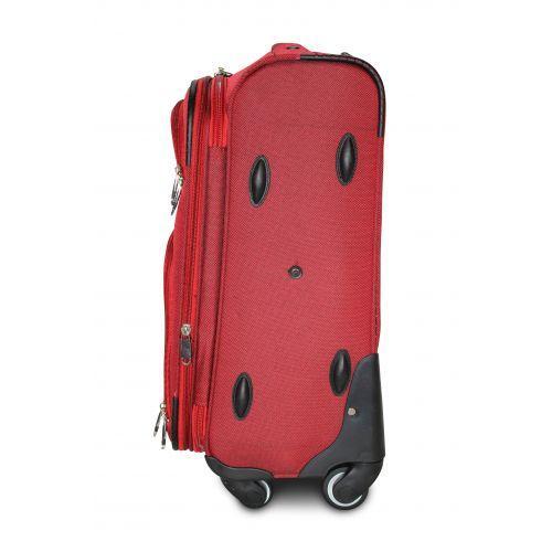 Тканевый чемодан Fly 8279-4M средний на 4-х колесах бордовый