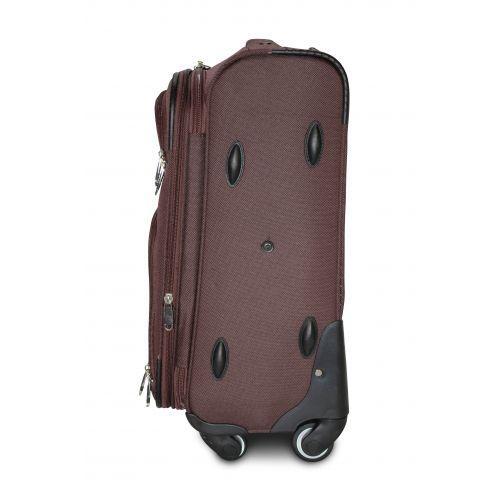 Тканевый чемодан Fly 8279-4M средний на 4-х колесах коричневый