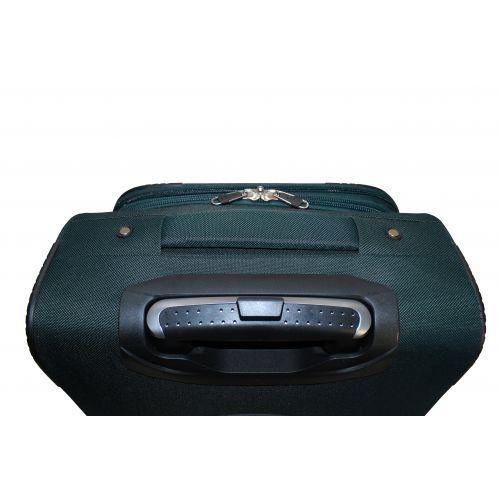 Тканевый чемодан Fly 8279-4L большой на 4-х колесах зеленый