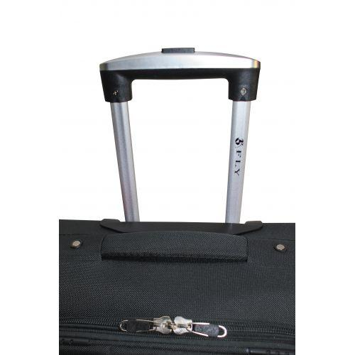 Тканевый чемодан Fly 8279-4S маленький на 4-х колесах серый