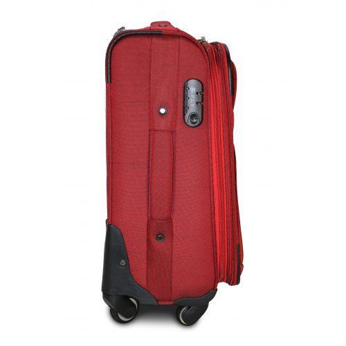 Тканевый чемодан Fly 8279-4L большой на 4-х колесах бордовый