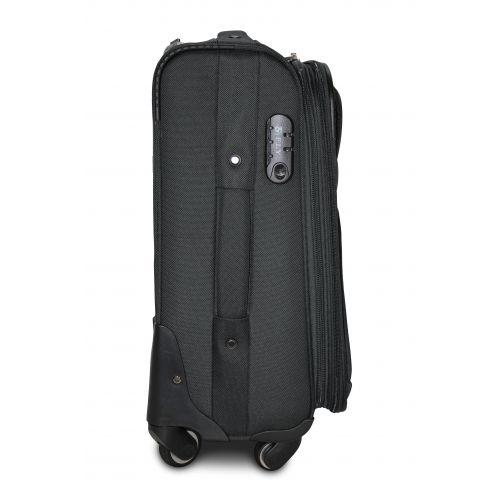 Тканевый чемодан Fly 8279-4L большой на 4-х колесах серый