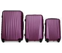Набор чемоданов Fly 8844 3 штуки фиолетовый