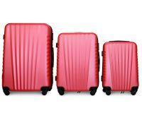 Набор чемоданов Fly 8844 3 штуки розовый