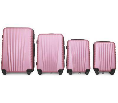 Набор чемоданов Fly 8844 4 штуки светло-розовый
