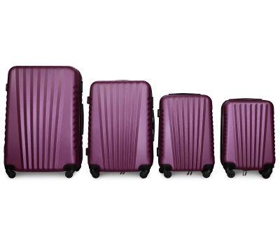 Набор чемоданов Fly 8844 4 штуки фиолетовый