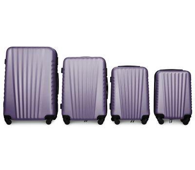 Набор чемоданов Fly 8844 4 штуки сиреневый