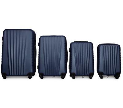 Набор чемоданов Fly 8844 4 штуки темно-синий