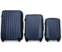 Набор чемоданов Fly 8844 3 штуки темно-синий
