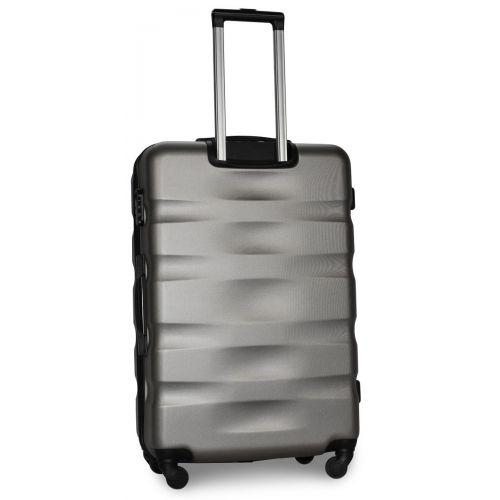 Набор чемоданов Fly 960 4 штуки серебряный
