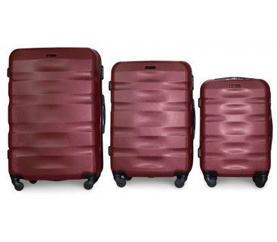 Набор чемоданов Fly 960 3 штуки бордовый