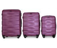 Набор чемоданов Fly 960 3 штуки фиолетовый
