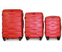 Набор чемоданов Fly 960 3 штуки красный