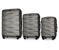 Набор чемоданов Fly 960 3 штуки серебряный
