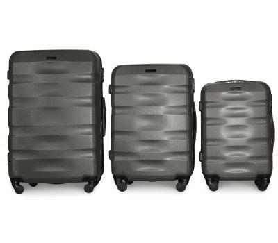 Набор чемоданов Fly 960 3 штуки серый