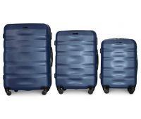Набор чемоданов Fly 960 3 штуки темно-синий