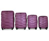 Набор чемоданов Fly 960 4 штуки фиолетовый