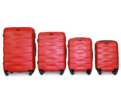 Набор чемоданов Fly 960 4 штуки красный