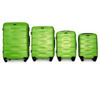 Набор чемоданов Fly 960 4 штуки зеленый