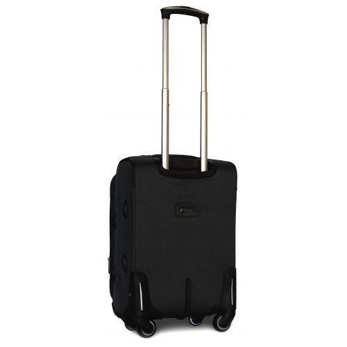 Дорожный чемодан Fly 1220-4S маленький на 4 колесах черный