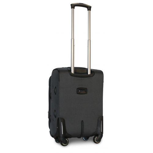 Дорожный чемодан Fly 1220-4S маленький на 4 колесах серый