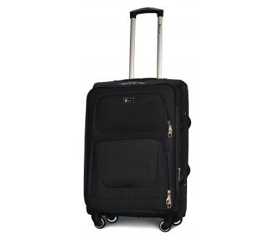 Дорожный чемодан Fly 1220-4M средний на 4 колесах черный