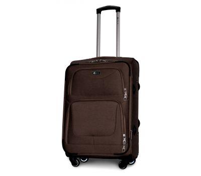 Дорожный чемодан Fly 1220-4M средний на 4 колесах кофейный
