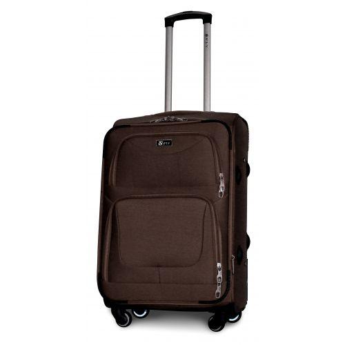 Набор дорожных чемоданов Fly 1220 на 4 колесах 3 штуки кофейный