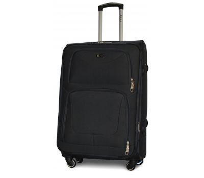 Дорожный чемодан Fly 1220-4L большой на 4 колесах черный