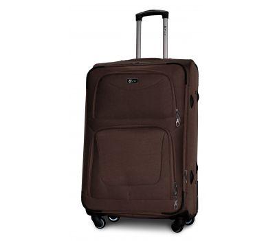 Дорожный чемодан Fly 1220-4L большой на 4 колесах кофейный