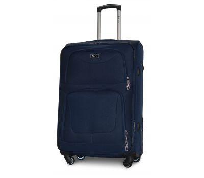 Дорожный чемодан Fly 1220-4L большой на 4 колесах синий