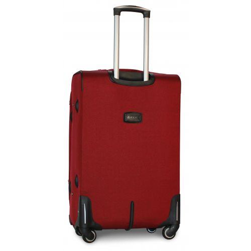 Набор дорожных чемоданов Fly 1220 на 4 колесах 3 штуки бордовый