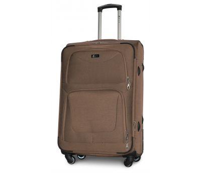 Дорожный чемодан Fly 1220-4L большой на 4 колесах бежевый