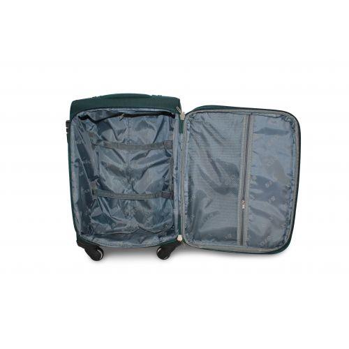 Дорожный чемодан Fly 1220-4M средний на 4 колесах зеленый