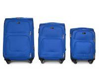 Набор дорожных чемоданов Fly 1220 на 4 колесах 3 штуки голубой