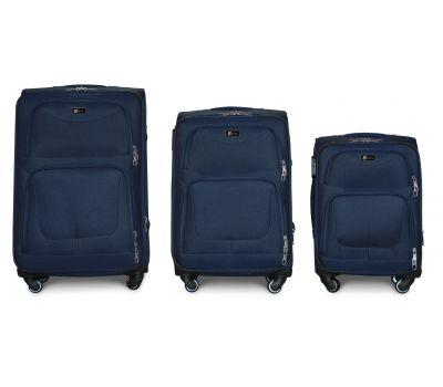 Набор дорожных чемоданов Fly 1220 на 4 колесах 3 штуки синий