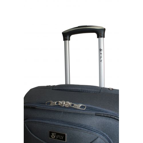 Дорожный чемодан Fly 1220-4M средний на 4 колесах серый
