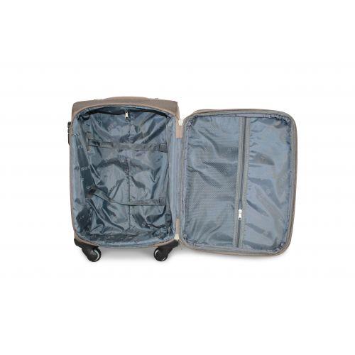 Дорожный чемодан Fly 1220-4S маленький на 4 колесах бежевый